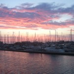 Spectacular Sunset looking across North Haven Marina