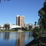 View of Adelaide across River Torrens